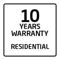 10 years residential warranty